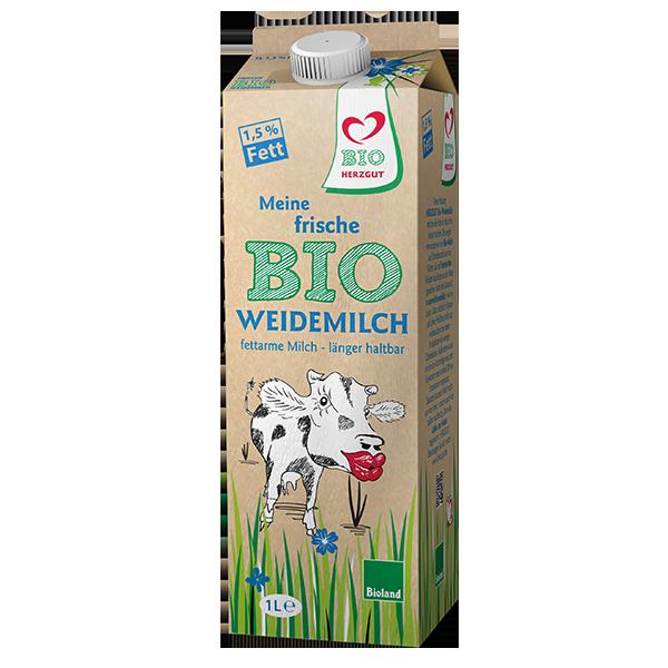 Fettarme Bio-Milch