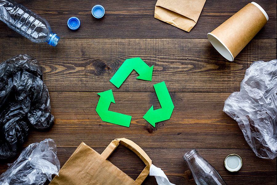 Umweltgerechte Verpackungsentsorgung