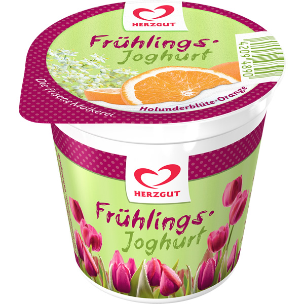 Frühlingsjoghurt Holunderblüte-Orange