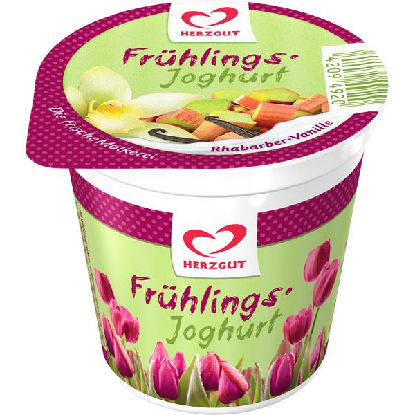 Frühlingsjoghurt Rharbarber-Vanille