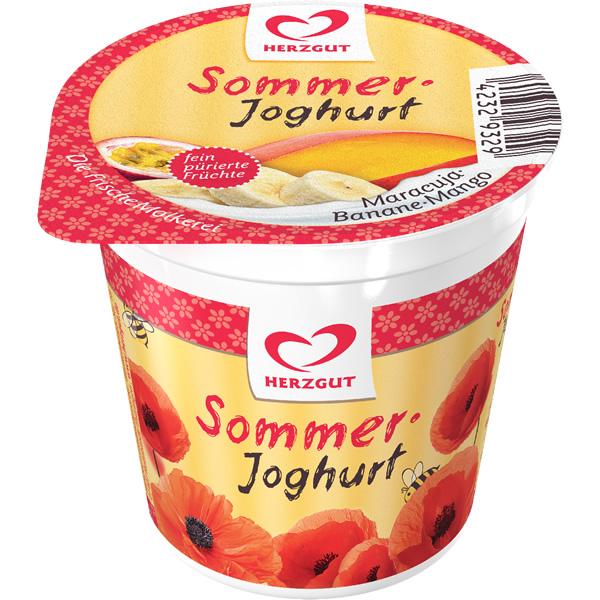 Sommerjoghurt Maracuja-Banane-Mango