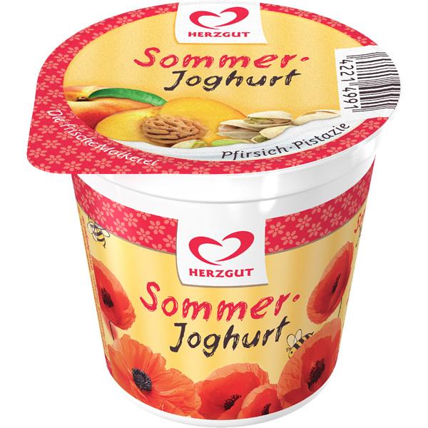 Sommerjoghurt Pfirsich-Pistazie
