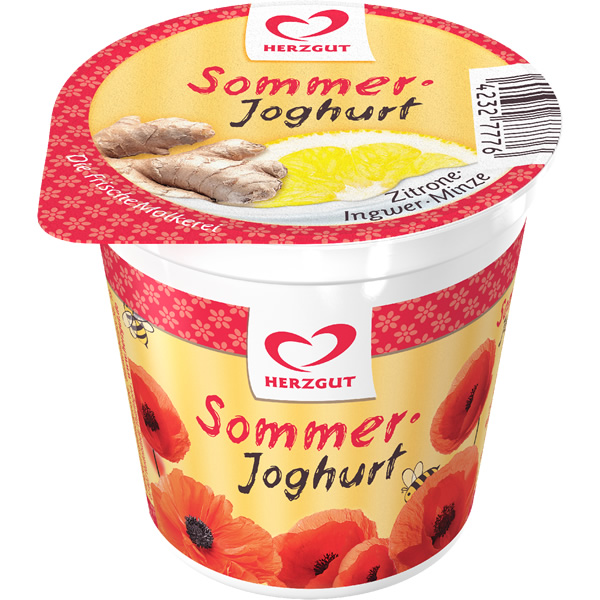 Sommerjoghurt Zitrone-Ingwer-Minze