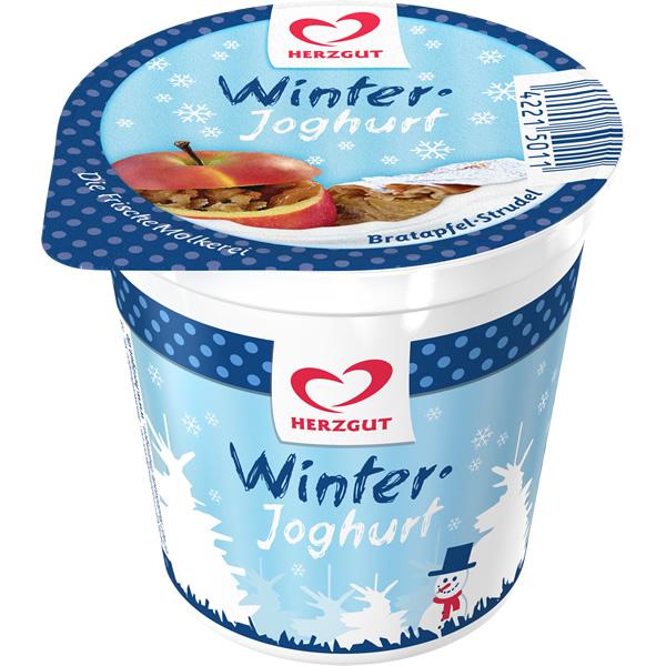 Winterjoghurt Bratapfel-Strudel