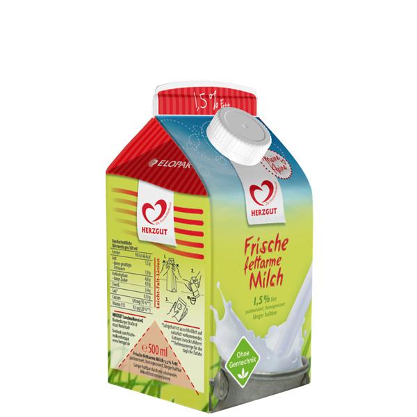 Frische fettarme Milch (500ml)
